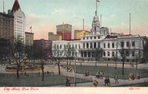 City Hall, New York, N.Y., Early Postcard, Unused