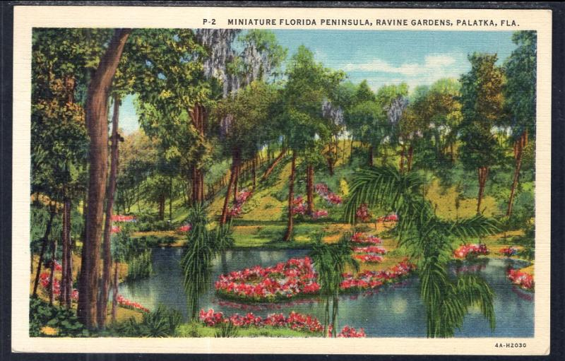 Miniature Florida Peninsula,Ravine Gardens,Palatka,FL / HipPostcard