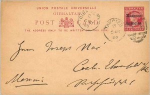 Entier Postal Stationery Postal Britain Great Britain to Morocco in 1903 Koel...