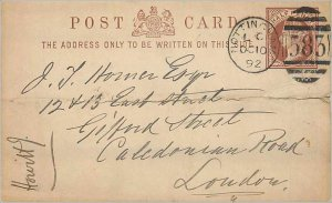 Entier Postal Stationery Postal Britain Great Britain 1 / 2p Nottingham for L...