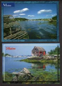 ME Lot 2 Mackerel Cove Bailey Island MAINE Postcards PC