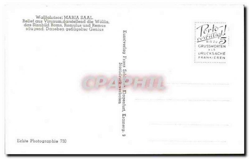 Old Postcard Wailfahrtsor Maria Saal Relief Aus Virunum Darstellend Wolfin Ro...
