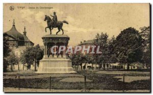 Postcard Liege Old Statue of Charlemagne