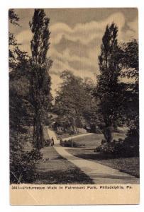 Philadelphia PA Fairmount Park Vintage Postcard