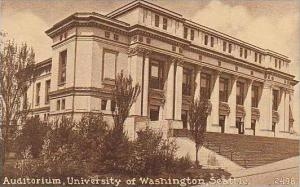 Washington Seattle University Of Washington Auditorium