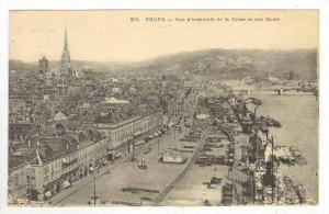 Vue D´Ensemble De La Seine Et Des Quais, Rouen, France, PU-1926