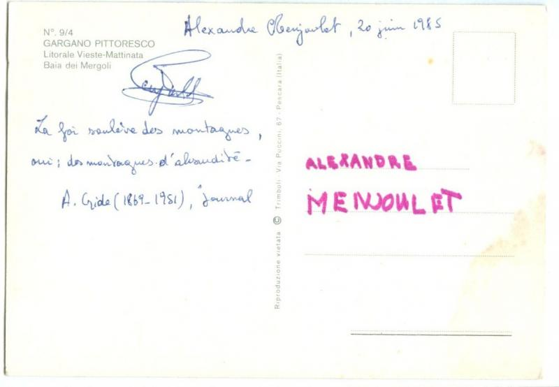 Italy, GARGANO, Litorale Vieste-Mattinata Baia dei Mergoli, 1985 used Postcard
