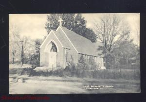 CEDARTOWN GEORGIA ST. BERNADETTE CHURCH ANTIQUE VINTAGE POSTCARD GA.