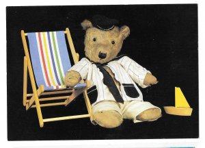 Teddy Toast Stuffed Teddy Bear Beach Chair 1986 Caroline Irwin 4X6 Postcard