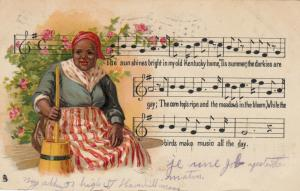 Song ; My old Kentucky Home ,1906 ;TUCK Negro Melodies Series2398