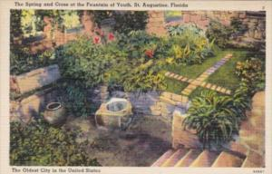 Florida St Augustine The Spring and Croos At The Fountain Of Youth