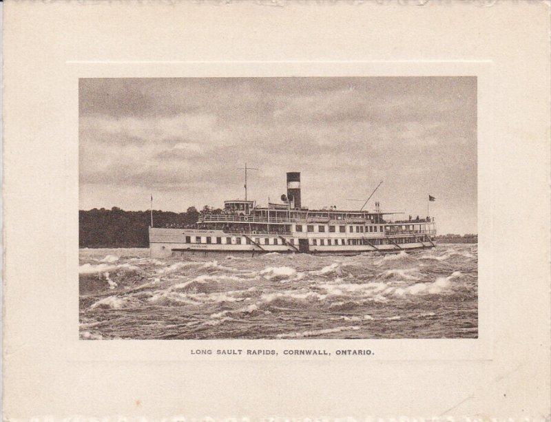 Steamer in Long Sault Rapids , CORNWALL , Ontario , Canada , 1890s