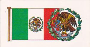 Vintage Trade Card Brooke Bond Tea Flags and Emblems Of The World No 44 Mexico