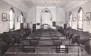 RP: NASHUA, Iowa, 1930-50s; Interior Little Brown Church in the Vale