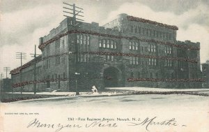 First Regiment Armory, Newark, New Jersey, very early postcard
