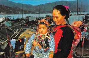 us8321 queer dress of boating woman and child hong kong types costume