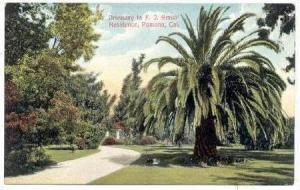 Driveway to F. J. Smith' Residence, Pomona, California, 1900-1910s