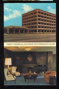 Tucson, Arizona/AZ Postcard, First Federal Savings, Stateman's Club, 1960's?