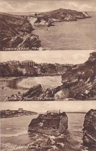 NEWQUAY , Cornwall England , 00-10s  ; 3-view Postcard