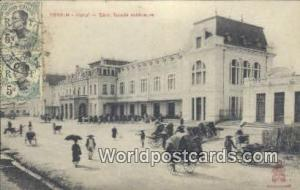 Vietnam, Viet Nam,  Nhân Vật Tonkin Hanoi, Gare, façade exterieure