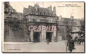 Postcard Old St Malo Entree City Porte St Vincent
