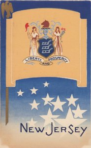 NEW JERSEY , State Flag , 40-50s ; Serigraph