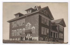 School Blaine Maine Real Photo RPPC 1910 postcard