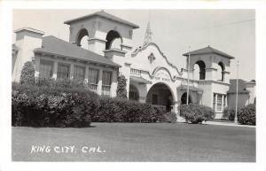 E58/ King City California Postcard Real Photo RPPC c40s High School
