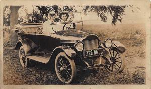 License Plate  #291107 Pennsylvania 1918 Automobile RPC Postcard