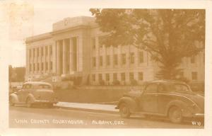 Albany OR~1938 Dodge 5=Window Coupe @ The County Courthouse~RPPC Hop Drying
