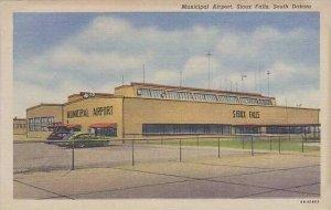 South Dakota Sioux Falls Municipal Airport Curteich