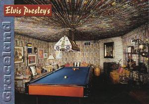 Elvis Presley Graceland Mansion Pool Room Memphis Tennessee