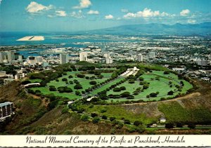 Hawaii Oahu National Memorial Cemetery Of The Pacific At Punchbowl