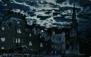 Martyrs Memorial Oxford Night view Moonlight Postcard