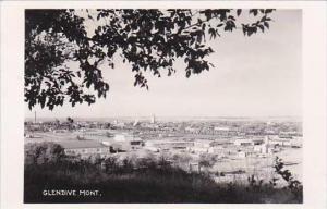 Montana Glendive Town View Real Photo RPPC