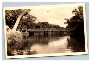 Vintage 1944 RPPC Postcard South Concho River Christoval Texas
