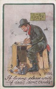 Home Sweet Home A Tramps House George Piper Artist Signed Comic Postcard