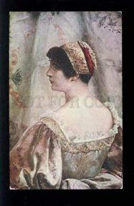074949 Venetian Woman BELLE by Jan STYKA vintage color PC