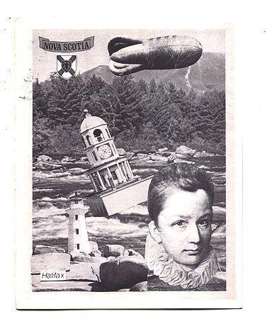 Doug Barron Photo Collage, Light House, Blimp, 1982, Halifax, Nova Scotia