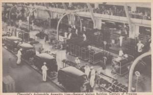 CHICAGO , Illinois , 1933 Exposition ; Chevrolet's Automobile Assembly Line