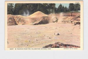 VINTAGE POSTCARD NATIONAL STATE PARK YELLOWSTONE FOUNTAIN PAINT POT #3