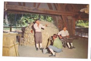 VA Jamestown James Fort Glass Blowing Virginia Postcard