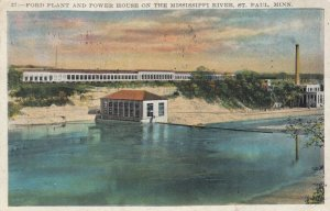 ST. PAUL, Minnesota, 1910-20s; FORD Automobile Plant & Power House