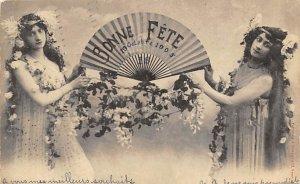 Fans Post Card Bonne Fete, Octobert 19 1905