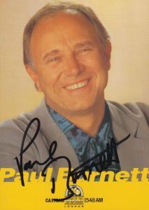 Paul Burnett Radion One DJ Capital Radio Vintage Hand Signed Cast Card Photo
