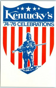 Vintage Kentucky Postcard Bicentennial 74 - 76 CELEBRATIONS Daniel Boone 1974