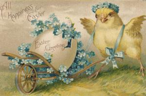 EASTER Chick with giant Egg Cart , 00-10s