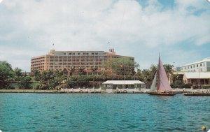HAMILTON, Bermuda, 1950-1960s; The Bermudiana Hotel, Sail Boat, Hamilton Harbour