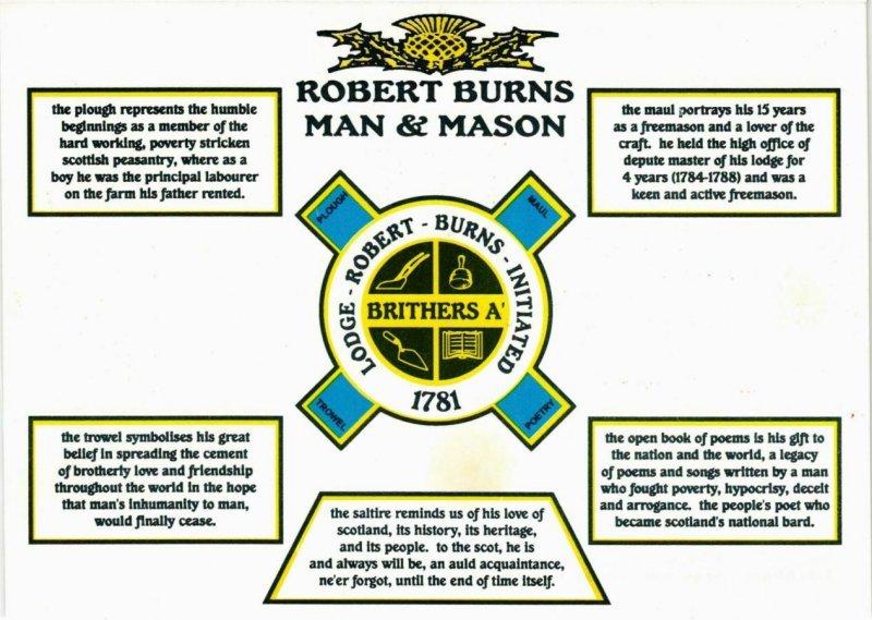 CPM Robert Burns Man & Mason FREEMASONRY (861231)