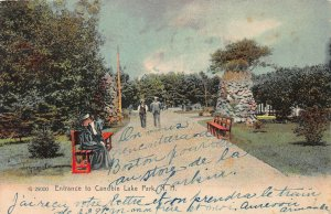 Entrance to Canobie Lake Park, New Hampshire, Early Postcard, Used in 1912